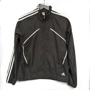 Adidas Black Light Weight Zip Jacket